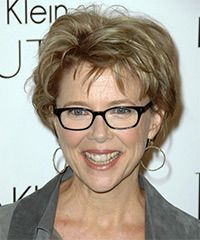 Annette Bening Hairstyle: Casual Short Straight Hairstyle