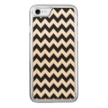 Black Chevron Seamless Tile Carved iPhone 7 Case