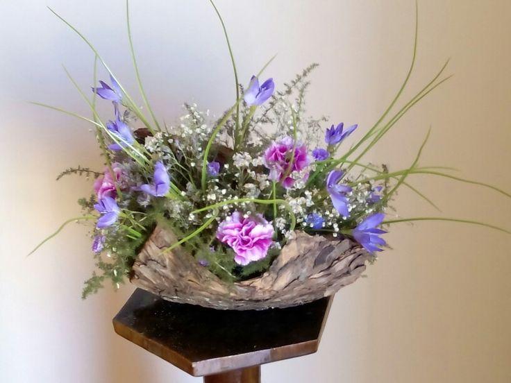 Escorça combinada amb flors