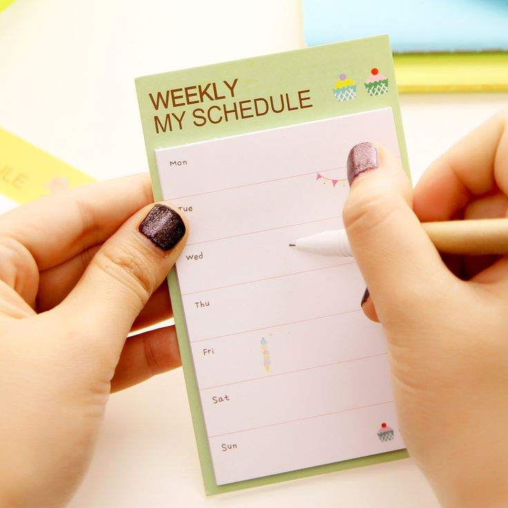 Desk Weekly Daily Planner Cartoon Sticky Notes Stickers Diary Stamps Post It Paper Korean Stationery To Do List Office Supplies-in Memo Pads from Office & School Supplies on Aliexpress.com | Alibaba Group