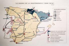 Guerra de la independencia. Se inicia en 1808 cuando las tropas de Napoleón invaden España y termina en 1814 con el triunfo de los españoles.