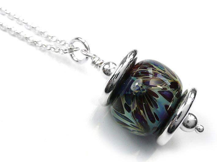 Lampwork Glass Pendant - Torrent