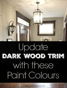the best neutral paint colours to update dark wood trim wood trim. Black Bedroom Furniture Sets. Home Design Ideas