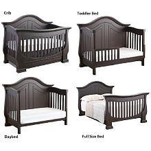 Eco Chic Dorchester Crib - Slate