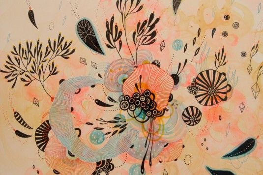 Art by Yellena James - love the soft yet energetic colors of this one.