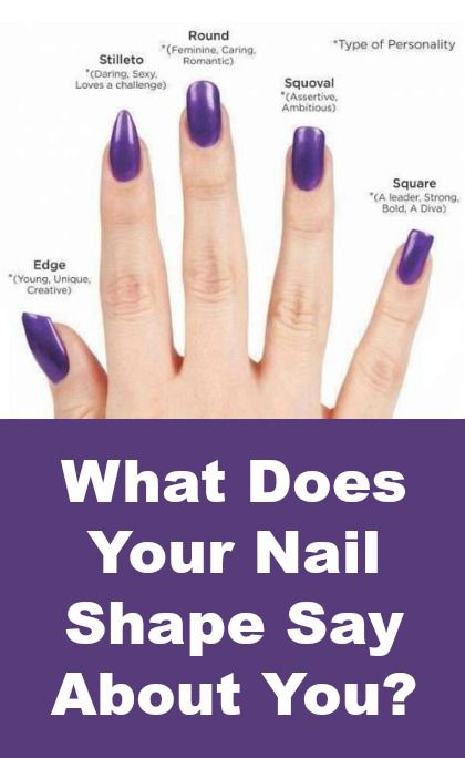 What your nail shape says about you Square narrow shape acrylic