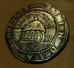 Golden spanish coin