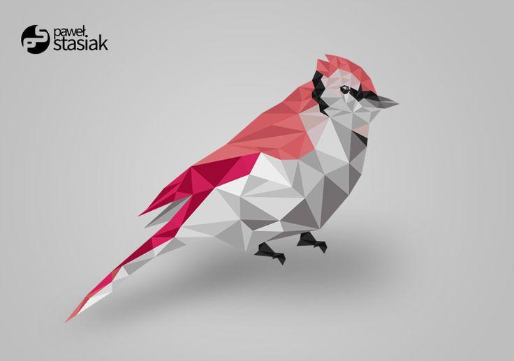 Polygon vectro bird