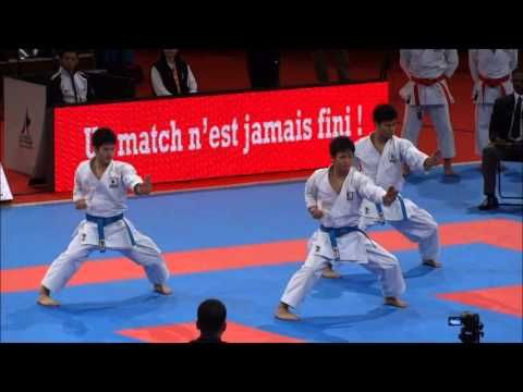Team Kata EMPI by Japan National Team - 21st WKF World Karate Championships - YouTube