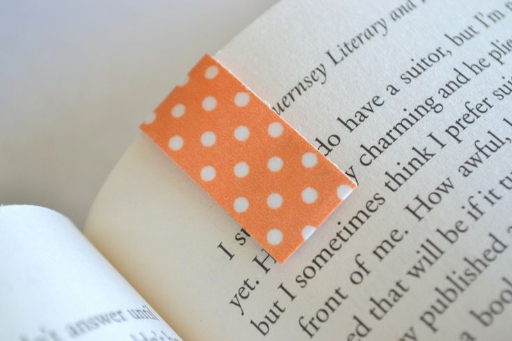 magnetic washi tape bookmarks