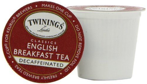 Twinings English Breakfast Decaffeinated Tea, K-Cup Portion Pack for Keurig K-Cup Brewers, 24-Count (Pack of 2) - http://thecoffeepod.biz/twinings-english-breakfast-decaffeinated-tea-k-cup-portion-pack-for-keurig-k-cup-brewers-24-count-pack-of-2/