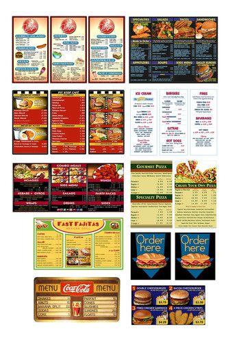 1 25 G Scale Model Restaurant Diner Cafe Menu Boards Signs | eBay