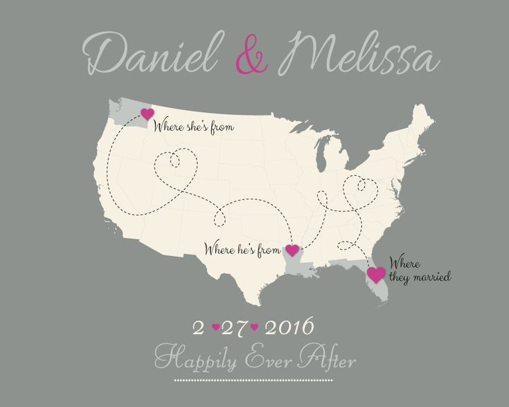 Best Wedding Maps Images On Pinterest Presents Map Art And - Us map pictures of couple