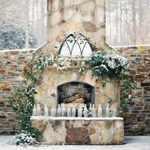 Свадьба в деталях: уютный камин