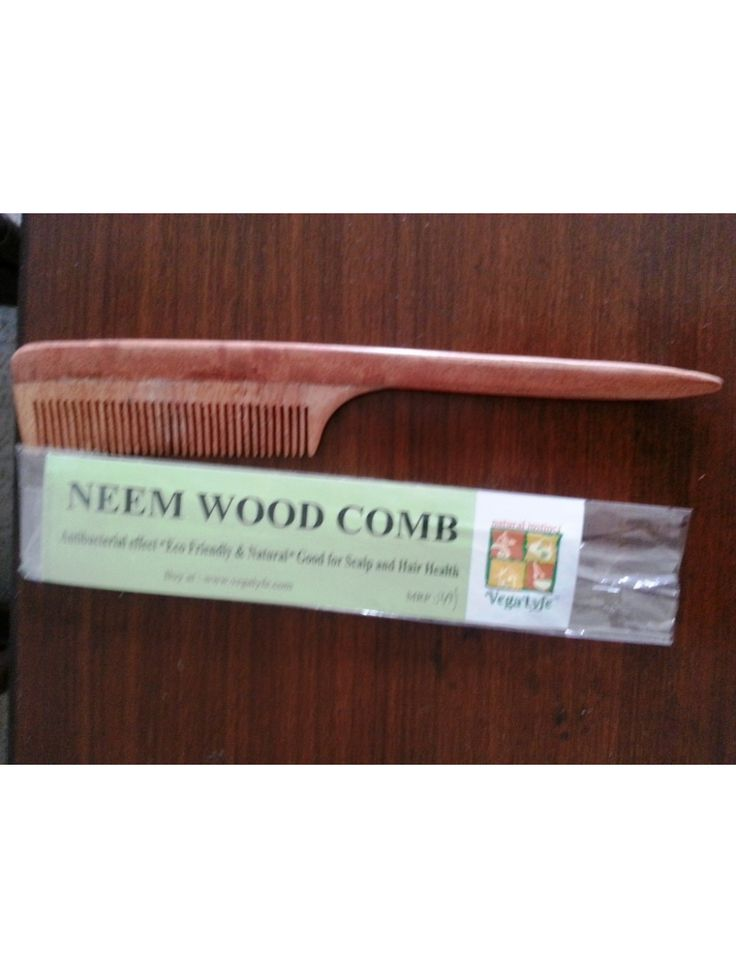 Neem Wood Tail Comb Buy here: http://www.vegalyfe.com/pocket-neem-wood-combtail.html