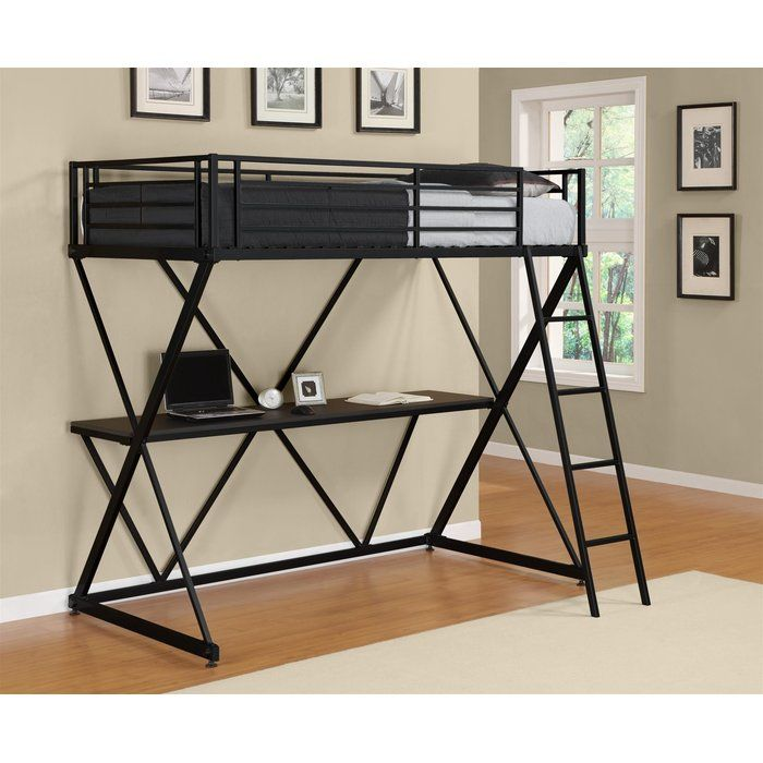 X Shaped Twin Loft Bed