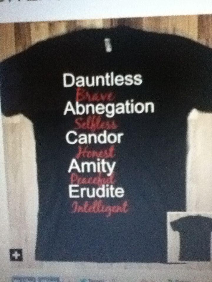 Divergent shirt........ MUST HAVE!!!!!!