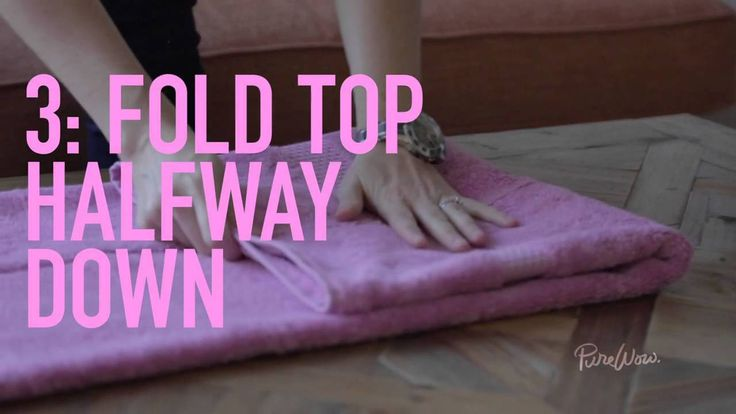 HOW TO MASTER THE HOTEL TOWEL FOLD Because couldn't your bathroom look more like the Plaza's?  YouTube Video Preview