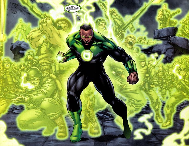 John Stewart! Hopefully the only Black Green Lantern I've seen will make an appearance in the next Green Lantern move!