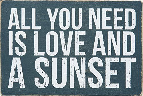 All You Need Is Love And A Sunset - Mailable Wooden Greeting Post Card 6-in