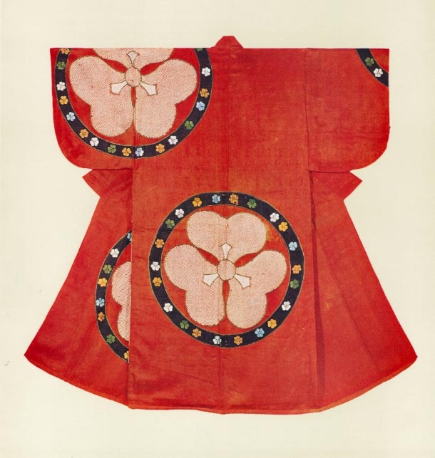 Early Edo Kosode - Kimono Flower Themed ...[]... Fabric