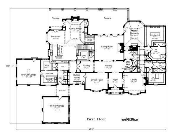 The Fairford House Plans Floor Plans Luxury Houses Mansions