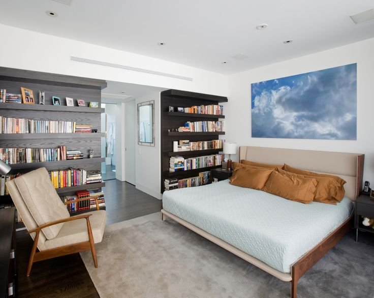 The refined and clever use of material in the master bedroom creates a space in which architecture and interior design blend together seamlessly.