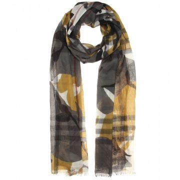 Printed wool and silk scarf - Şal, Desenli #askmoda #alisverisbirask #burberry #burberryşal #burberryscarf #scarfmodels