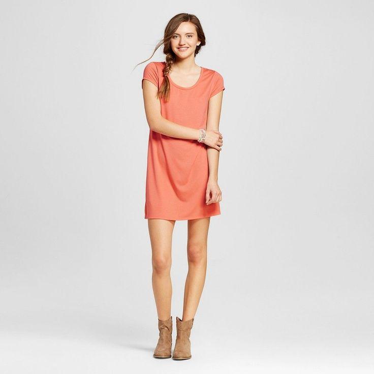 Women's Short T-Shirt Dress Pink Xxl - Mossimo Supply Co. (Juniors')