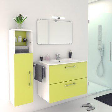 25 best Salle de bain images on Pinterest Bathroom furniture - meuble pour wc suspendu leroy merlin