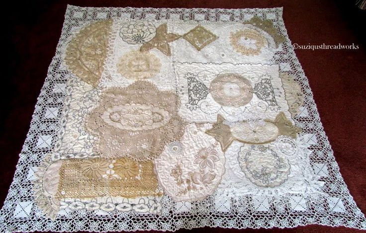 Suziqu's Threadworks: Doily and Lace Quilt Now Completed.  This is absolutely beautiful!