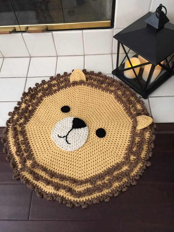 Crochet Lion Rug by PeanutButterDynamite on Etsy
