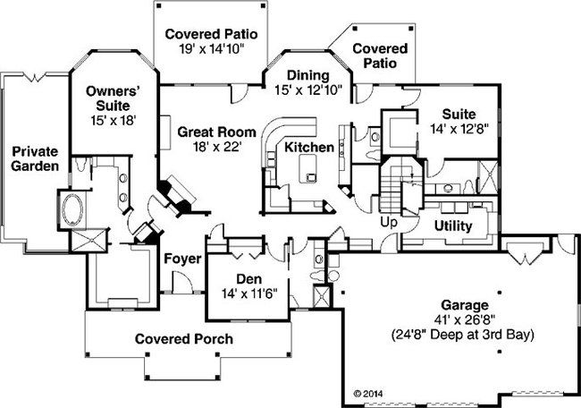 House plans with two master suites one story google for One story house plans with two master suites