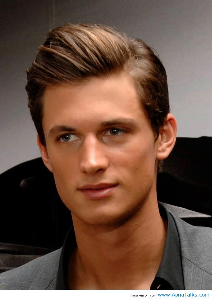 nice Comb Over Hair Style With Dark Brown - Stylendesigns.com!
