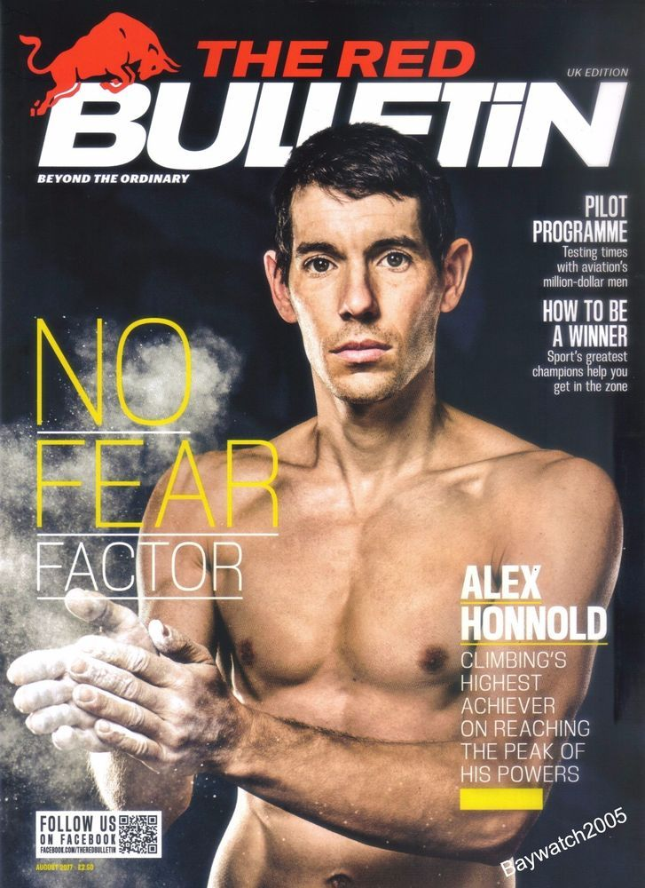 ALEX HONNOLD ROCK CLIMBING FREE SOLO THE RED BULLETIN (UK EDITION) AUGUST 2017