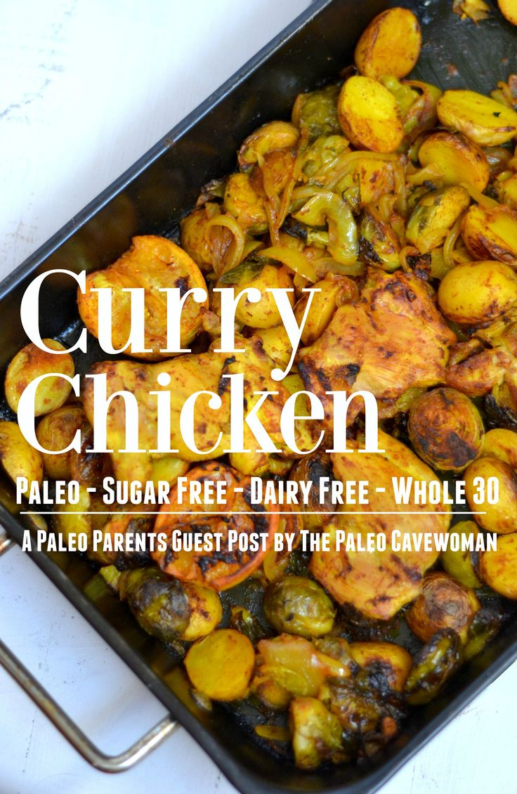 A Paleo Curry Chicken recipe! Whole 30 compliant, dairy-free, gluten-free and sugar-free. You'll love this simple, flavorful recipe! Make it tonight!