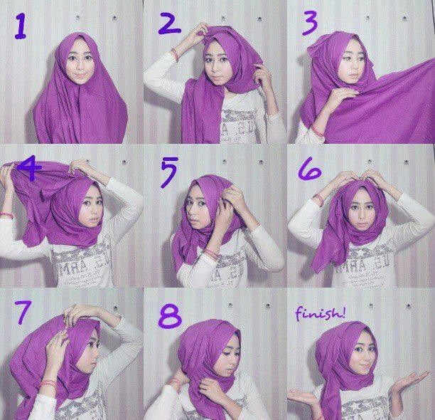 Hijab Tutorial with folds