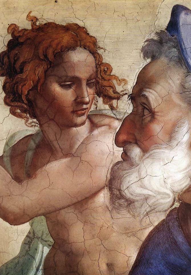 artemisdreaming: Sistine Chapel - Ezekiel (detail) Michelangelo Buonarroti
