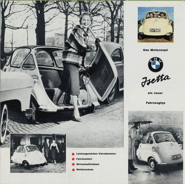 1/2 - Motocoupé BMW Isetta 1960, Brochure.
