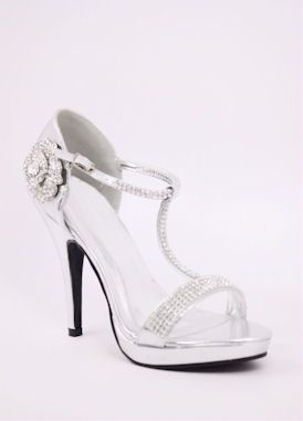 Silver Shoes With Heels And Platform Style