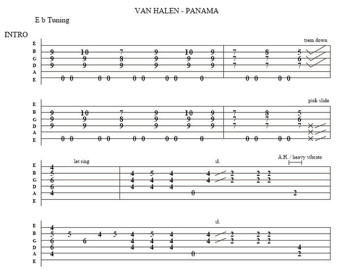 Image Result For Van Halen Tab