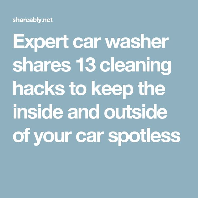 how to clean outside of car
