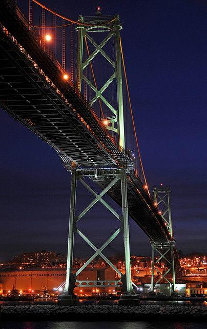 Angus L. MacDonald Bridge, Halifax to Dartmouth, Nova Scotia, Canada