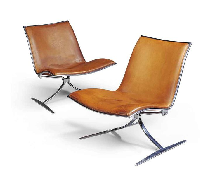 A PAIR OF PREBEN FABRICIUS (1931-1984) & JØRGEN KASTHOLM (1931-2007) MODEL FK-710 LOUNGE CHAIRS