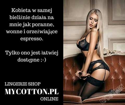 Z serii złote mi się myśli ;-) www.mycotton.pl LINGERIE SHOP - jedyny w swoim rodzaju (y)