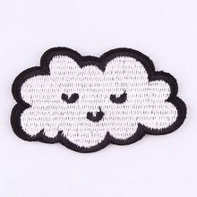 1 unids nube parches para la ropa de hierro bordado apliques de coser parche lindo tela insignia de prendas de vestir diy accesorios de prendas de vestir(China (Mainland))
