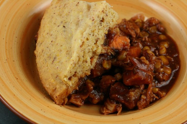CrockPot Barbecued Chicken and Cornbread Casserole-Note: quarter cups ...