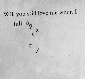 signs of falling apart relationship poems