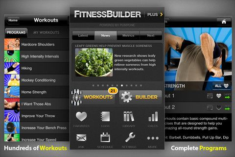 Whether you're starting an exercise routine for the first time, or just want some workout inspiration, Fitness Builder can help. This app lets you choose from an impressive library of more than 5,600 exercise images and videos, or, you can even ask a personal trainer for helpful advice.