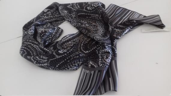 Vintage Nwt 100 Silk Scarf Adrienne Vittadini Silk Scarf Etsy In 2020 Vibrant Scarf Etsy Scarves Silk Scarf